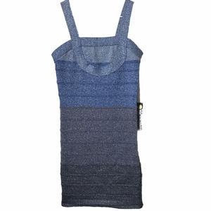 NWT Poof Couture Striped Sleeveless Mini Dress